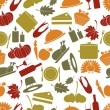 Thanksgiving color seamless autumn pattern eps10 — Stock Vector #56065463