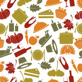 Thanksgiving color seamless autumn pattern eps10 — Stock Vector