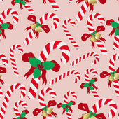 Christmas red and white sweets stick seamless pattern eps10 — Stock Vector