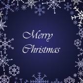 Merry christmas snow flake blue card eps10 — Stock Vector