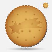 Christmas brown biscuit with comet symbol eps10 — Vector de stock
