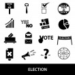 Election black simple icons set eps10 — Stock Vector #60108287
