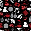 Japanese color icons seamless dark pattern eps10 — Stock Vector #60444225