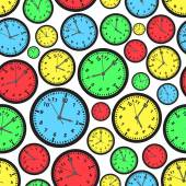 Time zones color clock seamless pattern eps10 — ストックベクタ