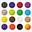 Various color buttons for clothing icons set eps10 — Stock Vector #61573765