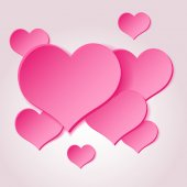 Pink valentine hearths from paper decoration element eps10 — Vector de stock
