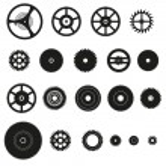 Various cogwheels parts of watch movement eps10 — Stock Vector #62870971