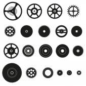 Various cogwheels parts of watch movement eps10 — Vector de stock