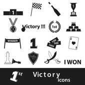 Flawless victory symbols set of icons eps10 — Stock Vector