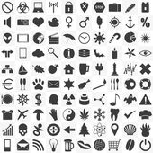 Set of 100 general various icons for your use eps10 — Stock Vector