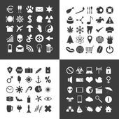Set of 100 various general icons for your use eps10 — Stock Vector