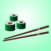 Japan sushi food with chopstick on the table eps10 — Stock Vector