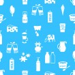 Milk and milk product theme icons seamless pattern eps10 — Stock Vector #72696937