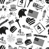 American independence day celebration icons seamless pattern eps10 — Stock Vector