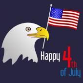 Amerikanska självständighetsdagen firande med örn och flagga eps10 — Stockvektor