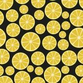 Colorful sliced lemon fruits seamless pattern eps10 — Stock Vector