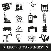 Electricity and enegry icons and symbol eps10 — Stock Vector