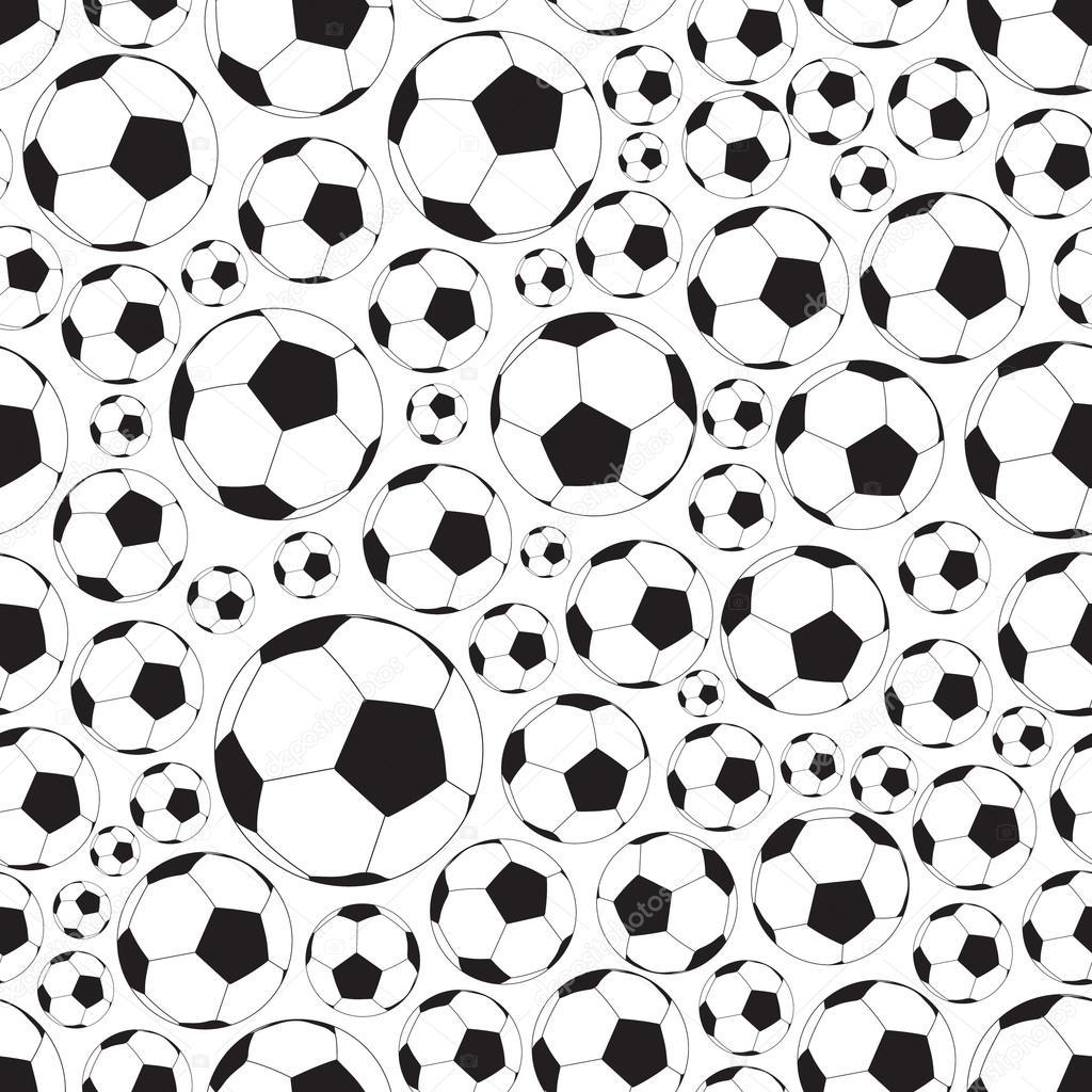 足球和足球球无缝黑白相间的花纹