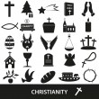 Christianity religion symbols vector set of icons eps10 — Stock Vector #79279610
