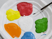 Color paints for children crafts — Stock Photo