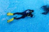 Scuba diving baptism — Stock Photo