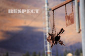 Abstract Respect picture with rusty rocket. — Stock Photo