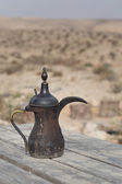 Traditional vintage arabian old smoked coffee maker — Stock Photo