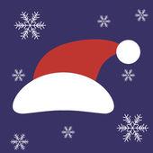 Christmas Santa Claus Hat in vector — Stock Vector