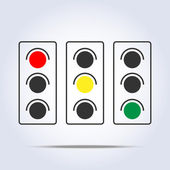 Traffic light icon — Stock Vector