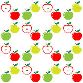 Seamless pattern of set apples — Vettoriale Stock