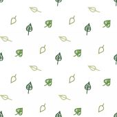 Seamless stylized green leaves pattern — Stock Vector