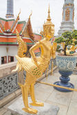 Angel statue sculpture of thailand in the temple — Stock Photo