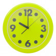 Green wall clock — Stock Photo #54939387