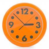 Orange wall clock — Stock Photo