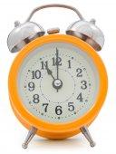 Orange alarm clock — 图库照片