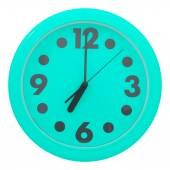Green wall clock — 图库照片