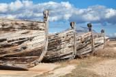 Sicilya eski ahşap balıkçı tekneleri — Stok fotoğraf