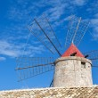 Old windmill, Trapani salt pans, Sicily — Stock Photo #68390101