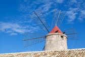 Old windmill, Trapani salt pans, Sicily — Stock Photo