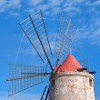 Old windmill in Trapani salt pans, Sicily — Stock Photo #69335801