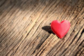 Red heart shaped valentines day — Foto Stock