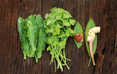 Galangal ginger,parsley and thai vegetable herb — ストック写真