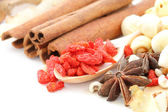 Many kind of Chinese herbal — Stock Photo
