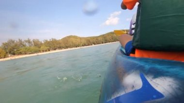 Kano, Kayak göle — Stok video