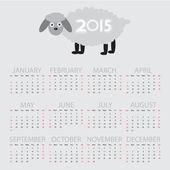 Simple calendar 2015  — Stock Vector