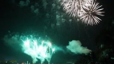 Set collection montage, Beautiful celebration fireworks, HD 1920x1080 clip. — Stock Video