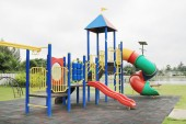 Children's playground at park — ストック写真