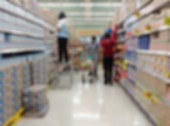 Supermarket or store blur background ,People shopping and produc — Stock Photo