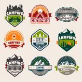 Camping — Vector de stock