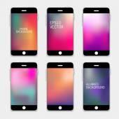 Phones Backgrounds. — Stock Vector